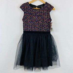 Zunie Party Dress Rainbow Sequin Tulle